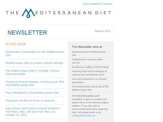 2ο Newsletter Των Χωρών Και Των Εμβληματικών Κοινοτήτων Που Υποστήριξαν Την Εγγραφή Της Μεσογειακής Διατροφής Στην Άυλη Πολιτιστική Κληρονομιά Της UNESCO