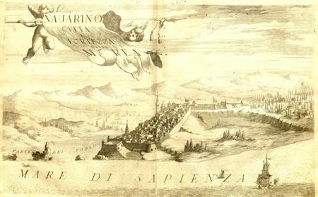 """""""Navarino Citta E Fortezza della Morea"""" - Vincenzo Maria Coronelli"""