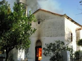 Καταστράφηκε Από Πυρκαγιά Ο Ιερός Ναός Του Αγίου Χαραλάμπους Στην  Κορώνη