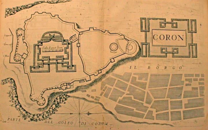 """""""Coron"""" - Τοπογραφικό διάγραμμα της Κορώνης"""