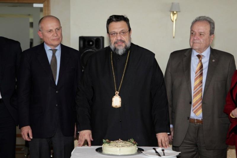 Πρέσβης Ιταλίας κ. Efisio Luigi Marras, Μητροπολίτης Μεσσηνίας Κ.κ. Χρυσόστομος, κ. Δ. Μανιατάκης