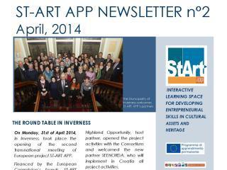 ST-ART APP: NEWSLETTER N°2 –April 7, 2014