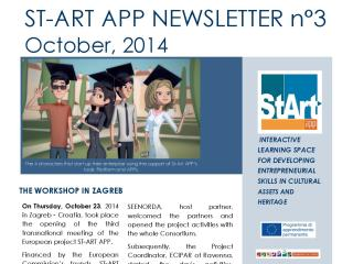 ST-ART APP: NEWSLETTER N°3 – October 23, 2014