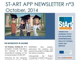 ST-ART APP: NEWSLETTER N°3 – October 23, 2014
