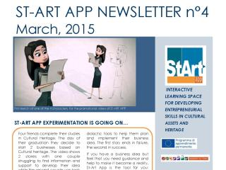 ST-ART APP: NEWSLETTER N°4 – March, 2015