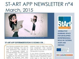 ST-ART APP: NEWSLETTER N°4 – March, 2015