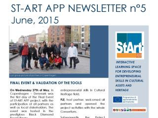 ST-ART APP: NEWSLETTER N°5 – June, 2015