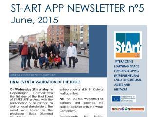 ST-ART APP: NEWSLETTER N°5 – June, 2015