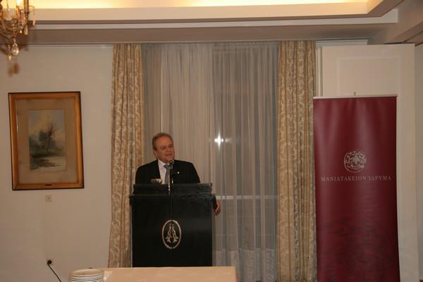 Ο πρόεδρος Δημήτρης Μανιατάκης