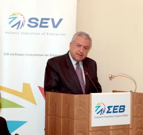 ο Πρόεδρος του ΣΕΒ Συμβούλιο Διεθνών Δράσεων κ. Θανάσης Λαβίδας